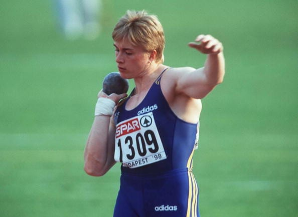 HUNGARY - AUGUST 23: LEICHTATHLETIK: EM 1998, Kugelstossen, Budapest 18. - 23.08.98, Vita PAVLYSH - SIEGERIN/EUROPAMEISTERIN 1998 (Photo by Lutz Bongarts/Bongarts/Getty Images)